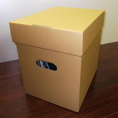 disk union LP用ダンボール フタ付き クラフト[ACS-1068]