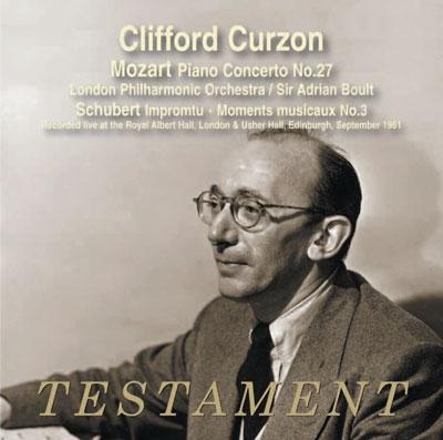クリフォード・カーゾン/Mozart: Piano Concerto No.27; Schubert: Impromptus D.899, Moments Musicaux No.3[SBT1486]