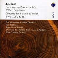 トン・コープマン/J.S.Bach: Brandenburg Concertos No.1-3, Concerto for Flute in E Minor BWV.1[2564613632]