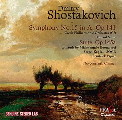 ショスタコーヴィチ: 最晩年の3作 - 交響曲第15番、ミケランジェロの詩による組曲Op.145より全8曲、ノヴォ CD