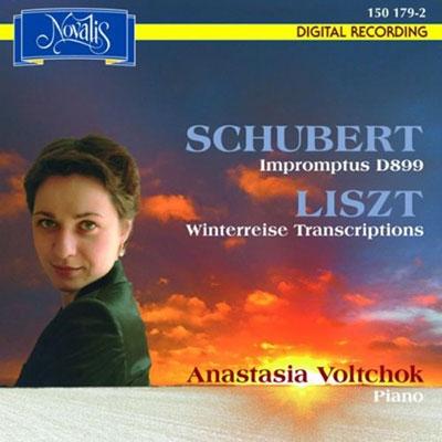 アナスタシア・ボルチョク/シューベルト: 4つの即興曲集 D.899 Op.90、冬の旅(リスト編12曲 Sz.561)[NOV150179]