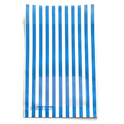 タワレコ 推し色ラッピング袋 Blue(ストライプ)[MD01-5589]
