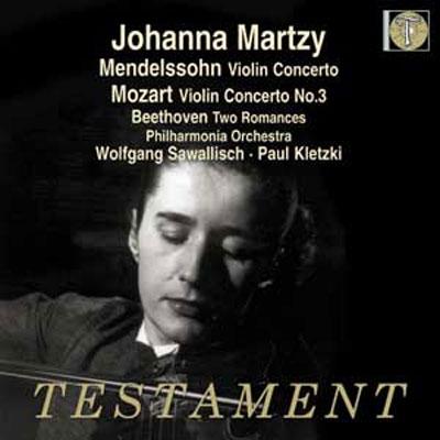 ヨハンナ・マルツィ/Mendelssohn: Violin Concerto; Mozart: Violin Concerto No.3; Beethoven: Romance No.1 &No.2[SBT1483]