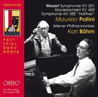 マウリツィオ・ポリーニ/モーツァルト: ピアノ協奏曲第19番、交響曲第29番&第35番「ハフナー」[C891141DR]