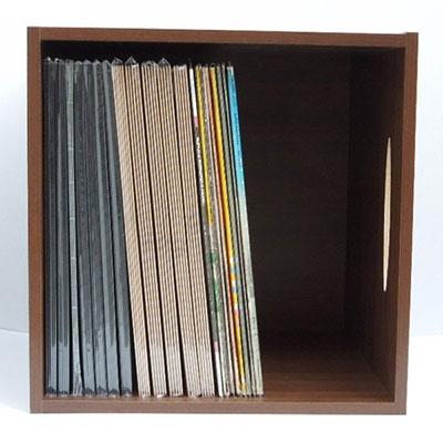 DISKUNION レコードラック/1マスレコードラック/木目 (LP約80枚収納) [ACSR458 ]