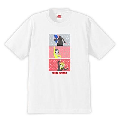 映像研には手を出すな! × TOWER RECORDS Aタイプ T-shirts ホワイト Mサイズ[MD01-5869]