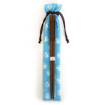 TOWER RECORDS じゃぱん お箸(巾着ケース付き) 水色 Accessories