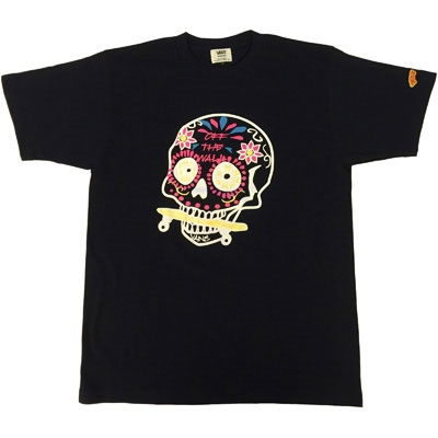 VANS×TOWER RECORDS MEX SKULL Tee NAVY/S[MD01-2397]