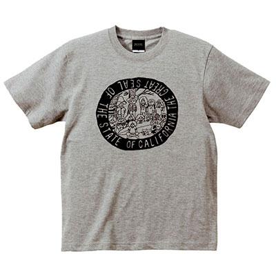 カリフォルニア サーフボード T-shirt ミックスグレー Sサイズ [MD01-2052]