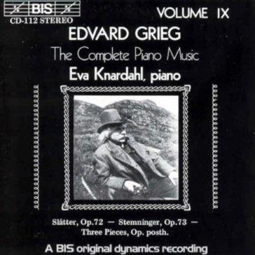 エヴァ・クナルダール/グリーグ: ピアノ作品全集第9巻[BISCD112]
