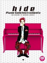 hide 「ピアノ・ソロ・インストゥルメンツ」 [BOOK+CD] Book