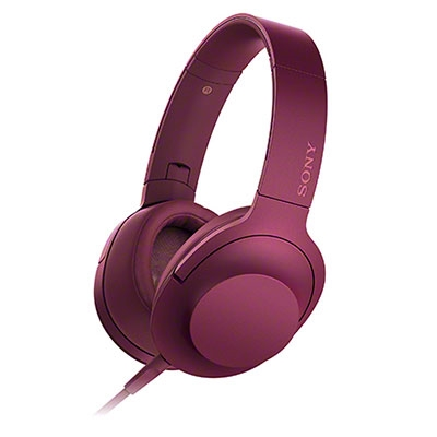 SONY ハイレゾ対応 ヘッドホン h.ear on MDR-100A ボルドーピンク [MDR100APC]