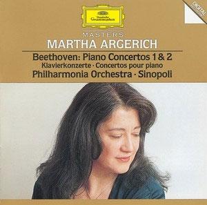 マルタ・アルゲリッチ/Beethoven: Piano Concerto No.1 Op.15, No.2 Op.19 / Martha Argerich(p), Giuseppe Sinopoli(cond), Philharmonia Orchestra[4455042]