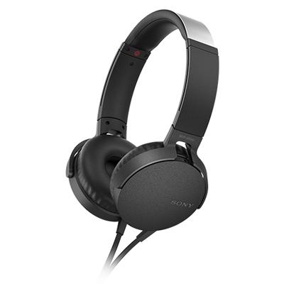 SONY ステレオヘッドホン(リモコン付) MDR-XB550 ブラック [MDRXB550APBC]