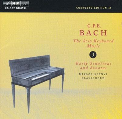 ミクローシュ・シュパーニ/C.P.Eバッハ: 無伴奏鍵盤作品集第3集[BISCD882]
