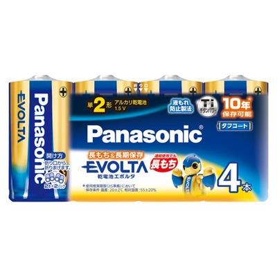 Panasonic アルカリ乾電池 エボルタ 単2形4本パック LR14EJ/4SW [LR14EJ4SW]