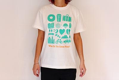 WTM Tシャツ LISTEN MUSIC(バニラホワイト) Mサイズ[WTM1004]