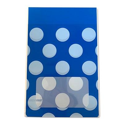 タワレコ 推し色ラッピング袋 Blue(水玉)[MD01-5561]
