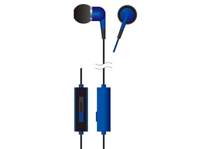 VERTEX ボリュームコントローラー付きカナルインナーホン Blue [VTH-IC013BL]