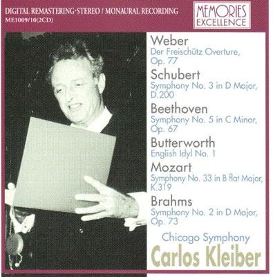 カルロス・クライバー/Beethoven: Symphony No.5; Mozart: Symphony No.33; Schubert: Symphony No.3, etc[ME1009]