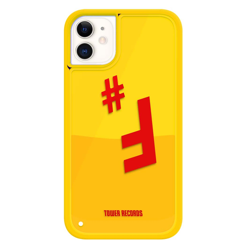 Hash Feat.#F × TOWER RECORDS OIL LIQUID CASE iPhone 11[MD01-5516]