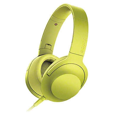 SONY ハイレゾ対応 ヘッドホン h.ear on MDR-100A ライムイエロー [MDR100AYC]