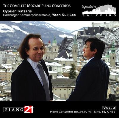 シプリアン・カツァリス/Mozart: Piano Concertos Vol.3 - No.24 K.491, No.18 K.456[P21021N]