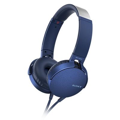 SONY ステレオヘッドホン(リモコン付) MDR-XB550 ブルー [MDRXB550APLC]