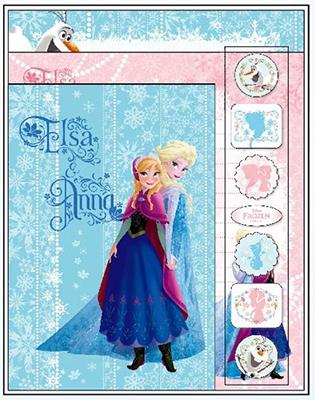 アナと雪の女王 レターセット ライトブルー&ピンク [SANS441238]