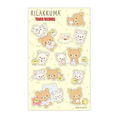 Rilakkuma × TOWER RECORDS コラボクリアシール 2019 Winter[MD01-5333]