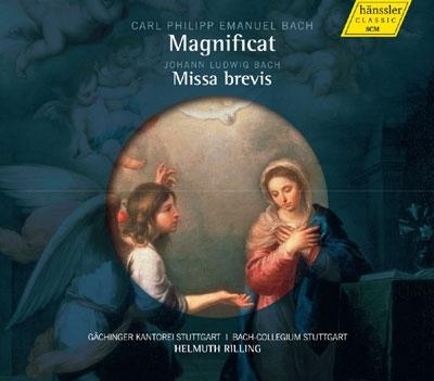 ヘルムート・リリング/C.P.E.Bach: Magnificat; J.L.Bach: Missa Brevis [98024]
