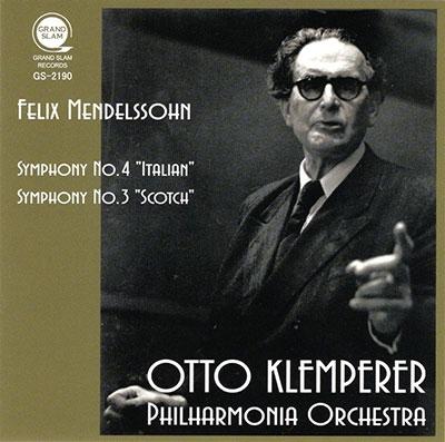 オットー・クレンペラー/メンデルスゾーン: 交響曲第3&4番[GS2190]