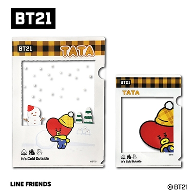 BT21 フレームクリアファイルセット/TATA
