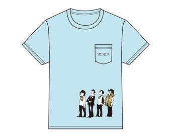 ウルフルズ/『人生』イラスト 胸ポケット Tシャツ S [4997184979641]