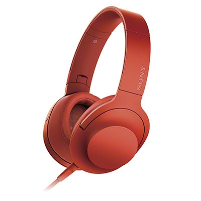 SONY ハイレゾ対応 ヘッドホン h.ear on MDR-100A シナバーレッド [MDR100ARC]