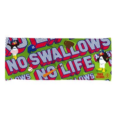 東京ヤクルトスワローズ/NO SWALLOWS, NO LIFE. 2020 ハイブリッドフェイスタオル(3Dマスコット/グリーン)[4582568020042]