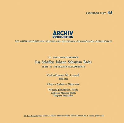 ヴォルフガング・シュナイダーハン/モーツァルト: ヴァイオリン協奏曲第4番; J.S.バッハ: ヴァイオリン協奏曲第1番, ブランデンブルク協奏曲第1番 [PROC-1652]
