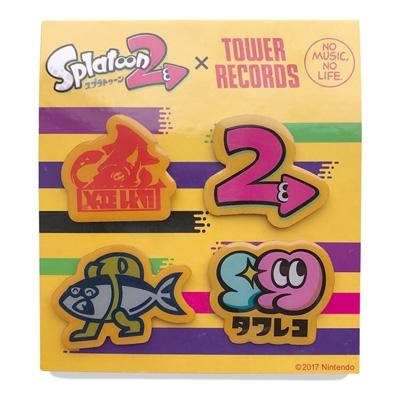 スプラトゥーン2 × TOWER RECORDS ピンバッジ4個セット [MD01-2919]