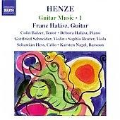 HENZE:GUITAR MUSIC VOL.1:ROYAL WINTER MUSIC-SECOND SONATA ON SHAKESPEAREAN CHARACTERS FOR GUITAR/DREI FRAGMENTE NACH HOLDERLIN/ETC:FRANZ HALASZ(g)/COLIN BALZER(T)/DEBORA HALASZ(p)/ETC[8557344]