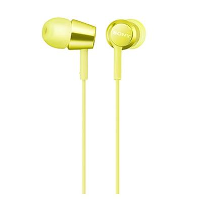 SONY スマートフォン用密閉型インナーイヤーレシーバー(リモコン付) MDR-EX155AP/Yellow [MDREX155APY]