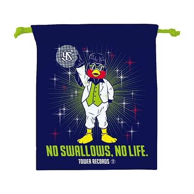 NO SWALLOWS, NO LIFE. 2019 ディスコ つば九郎 巾着[MD01-4655]