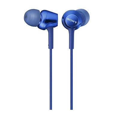 SONY スマートフォン用密閉型インナーイヤーレシーバー(リモコン付) MDR-EX255AP/Blue [MDREX255APL]