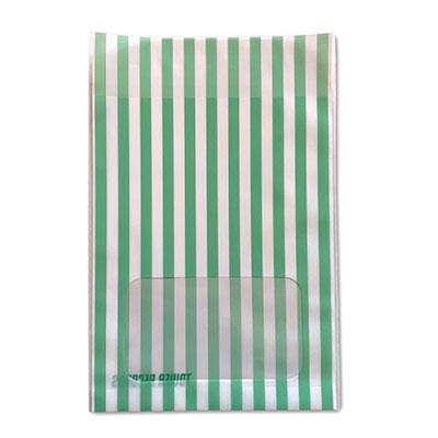 タワレコ 推し色ラッピング袋 Green(ストライプ)[MD01-5591]