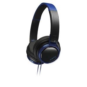 JVC ヘッドバンド式ポータブルヘッドホン HA-S200 ブラック&ブルー[HA-S200-BA]