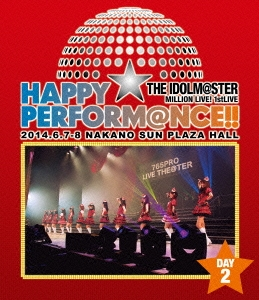 THE IDOLM@STER MILLION LIVE! 1stLIVE HAPPY☆PERFORM@NCE!! DAY2 Blu-ray Disc
