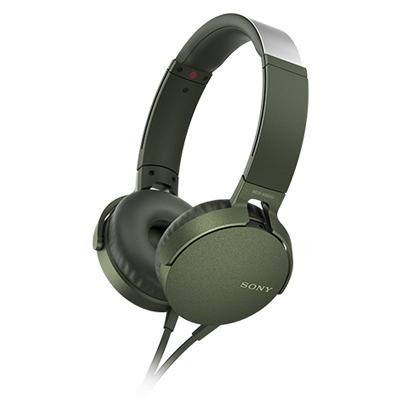 SONY ステレオヘッドホン(リモコン付) MDR-XB550 グリーン [MDRXB550APGC]