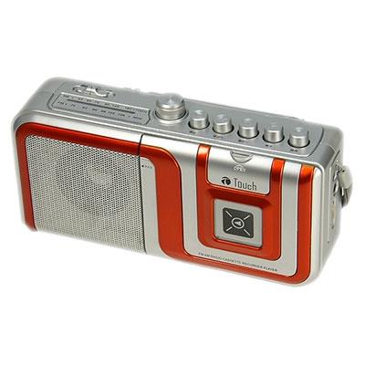 eiYAAA FM/AMラジオカセットレコーダープレーヤー/オレンジ [ST056OR]