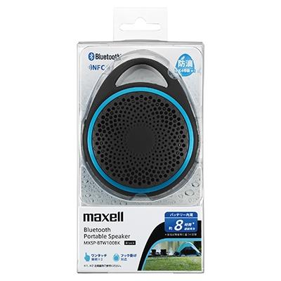 maxell 防滴Bluetoothスピーカー Black [MXSP-BTW100BK]