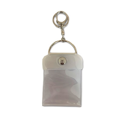 タワレコ 缶バッジキーホルダー57mm用 White[MD01-5821]