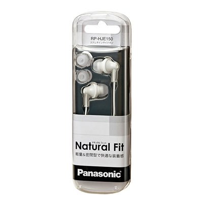 Panasonic ステレオインサイドホン RP-HJE150 White[RP-HJE150-W]